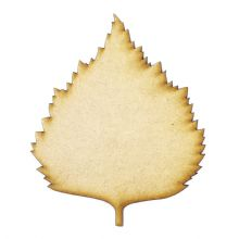 Lime Leaf cut from 3mm MDF, Craft Blanks, Shapes, Tags, Autumn Leaf